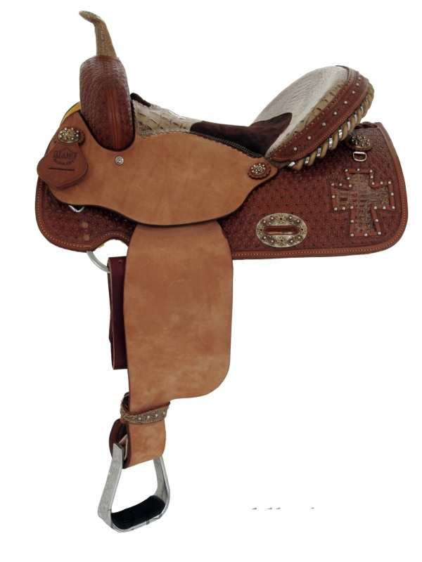 alamo-brown-gator-barrel-saddle