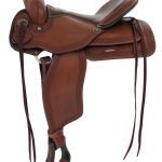 15inch 16inch Alamo Flex Tree Greek Border Tooled Western Trail Saddle 1060