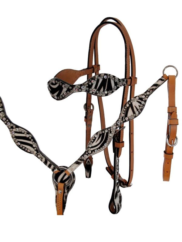 alamo-zebra-tack-headstall