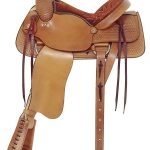 American Saddlery Basket Weave All Around Roping Saddle
