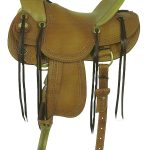 16inch American Saddlery MasterCraft Triangle Border Wade Rancher Saddle