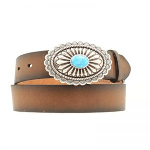 ariat-brown-turquoise-stone-belt
