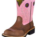 Ariat Womens Fatbaby Cowgirl Boots Fatbaby Toe Roughed ZDS