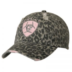 ariat-grey-cheetah-pink-logo-hat