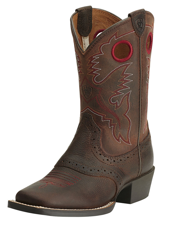 97d42bfedc3 Ariat Kids Roughstock Wide Square Toe Boots 14101 | Western Saddle ...