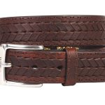 ariat-mens-brown-work-belt-chevron-lace