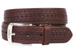 ariat-mens-brown-work-belt-chevron-lace