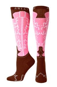 ariat-women-s-western-pink-knee-socks