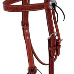 Billy Cook Basketweave Star Concho Browband Headstall