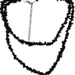 Black Western Necklace with Black Stones