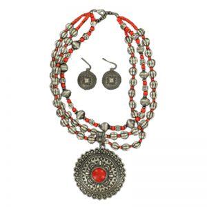 blazin-roxx-red-pendant-necklace-earrings-set