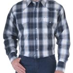 Mens Rock 47 Long-Sleeve Double Western Snap Pockets by Wrangler