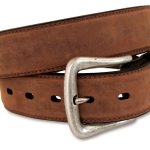 Mens Nocona Brown Distressed Leather Belt ZDS
