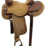 14.5inch Circle Y Dan Byrd 2721 Mounted Shooting Saddle_ Floor Model