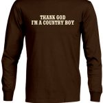 Country Boy Mens Shirt – Thank God Country Boy – CLEARANCE