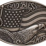 God Bless America belt buckle by Nocona