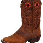 Justin Boots Mens Silver Collection Whiskey Buffalo Boots SV2534