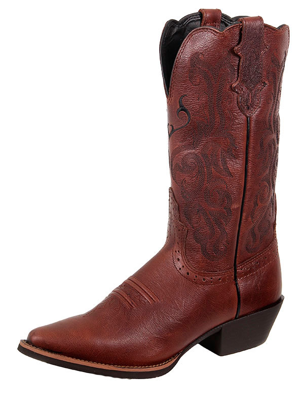justin-boots-womens-dark-brown-mustang-cowhide