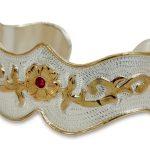 Justin Silver Bracelet – Floral Design ZDS