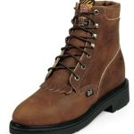 Justin Womens Aged Bark Boots Steel Toe L0774