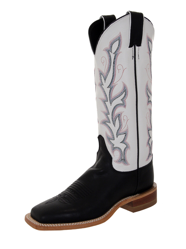 justin-womens-western-black-burnished-calf-boots-cl