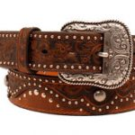 ladies-ariat-brown-embossed-leather-belt-a1520202