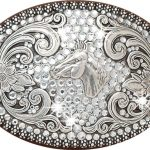Nocona Ladies Buckle – Horse Head and Rhinestones