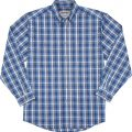 long-sleeve-wrinkle-resist-cotton-blue-plaid