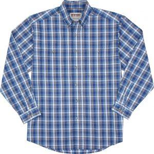 long-sleeve-wrinkle-resist-cotton-blue-plaid