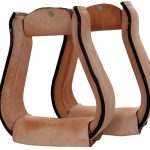Light Oil Leather Covered Stirrups