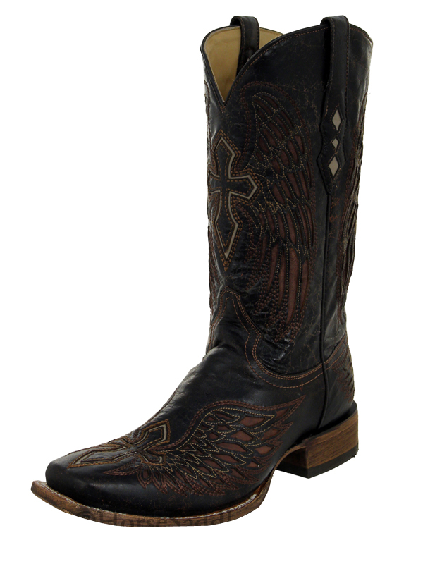 mens corral brown bone wing cross boots a1978 western