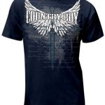 Country Boy Mens Shirt Wings/Cross ZDS