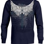 Mens Country Boy Long Sleeve Cross Tee Shirt ZDS