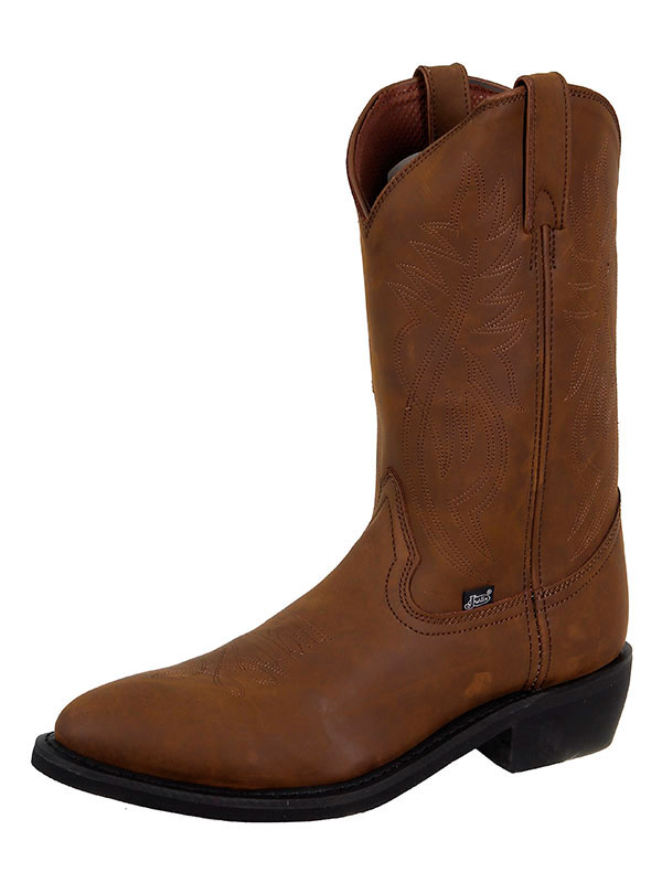 mens-justin-boots-brown-crazy-cow