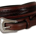 Mens Top Hand Ranger Arrow Laced Brown Belt