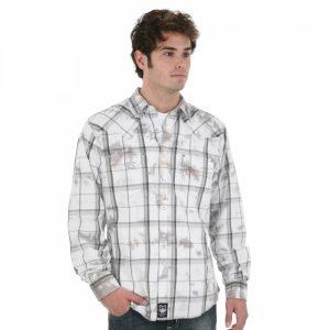 mens-wrangler-white-grey-plaid-shirt