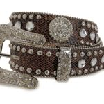 Nocona Blazin ROXX Brown Snake Skin Bling Belt