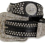 Nocona Ladies Scalloped Black Belt