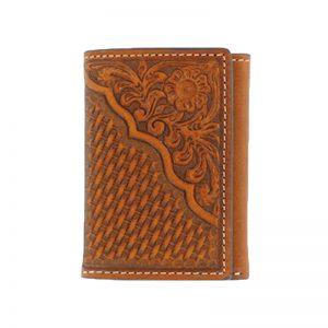 nocona-tooled-tri-fold-wallet