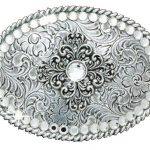 Nocona Vintage Oval Crystal Design Belt Buckle 37546