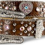 Nocona Youth Western Pink Heart Belt N4425202