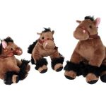 Bigtime Barnyard Plush Horse – Large_ Dark Brown