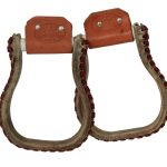 Billy Cook Rawhide Covered Oxbow Stirrups 15-343