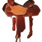 13inch to 15.5inch Reinsman Charmayne James Diamond Waffle Barrel Saddle