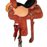 13inch to 15inch Reinsman Molly Powell Painted Daisy Barrel Saddle 4262
