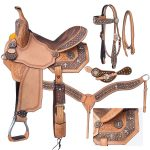 13inch Silver Royal Desert Faith Barrel Saddle Package 9sr272