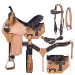 13inch to 16inch Silver Royal Midnight Run Barrel Saddle Package 9sr274