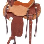 15.5inch to 16.5inch Silver Royal Wade Padded Working Saddle 901