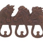 Western Moments Triple Horsehead Wall Mount Coat Hook
