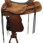 17inch Used American Saddlery Wide Trail Saddle_ Floor Model usam3368